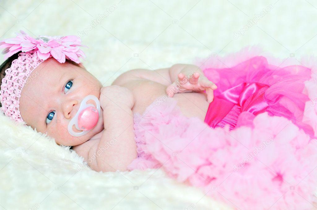 Fashion newborn girl