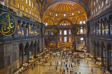 Ayasofya istanbul Türkiye'de sophia iç