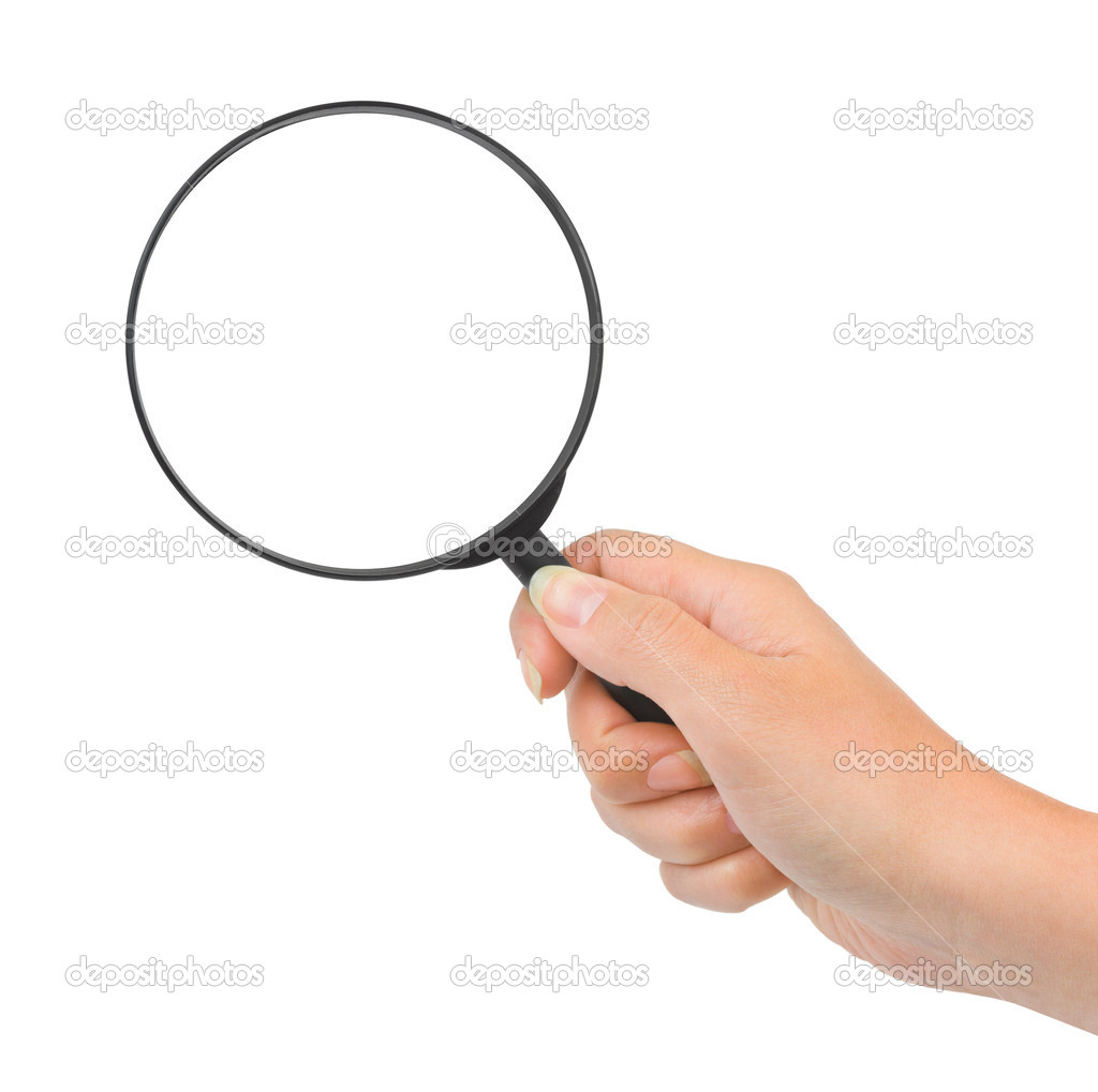 Magnifying Glass In Hand Stock Photo By C Violin 8296256