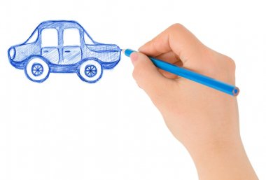 Hand drawing car