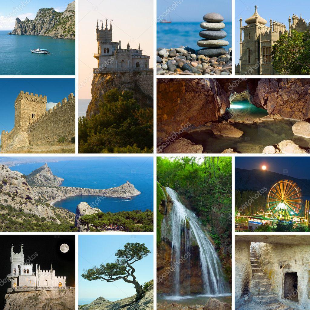 Collage of Crimea Ukraine images