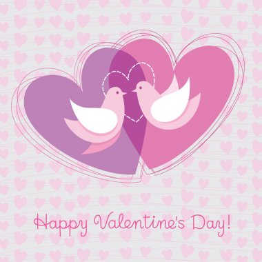 Card to the day of Valentine clip art vector