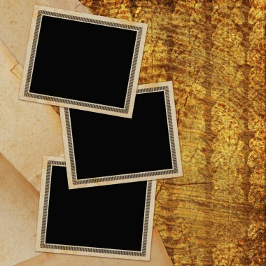 Framework for invitations on the vintage background.