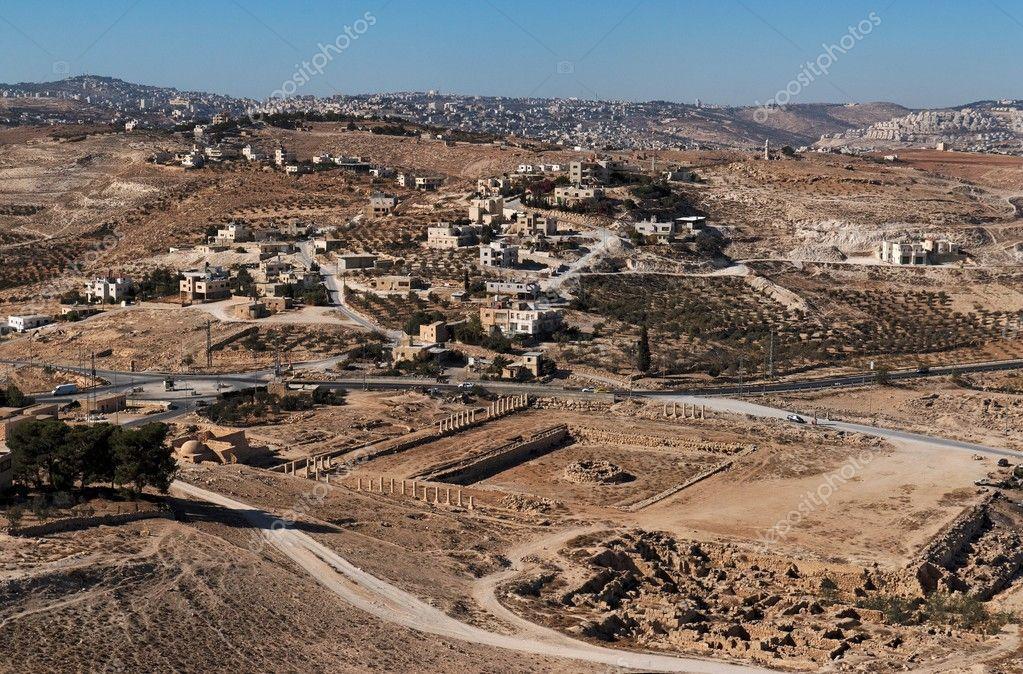 Excavations and Arab village in Herodion