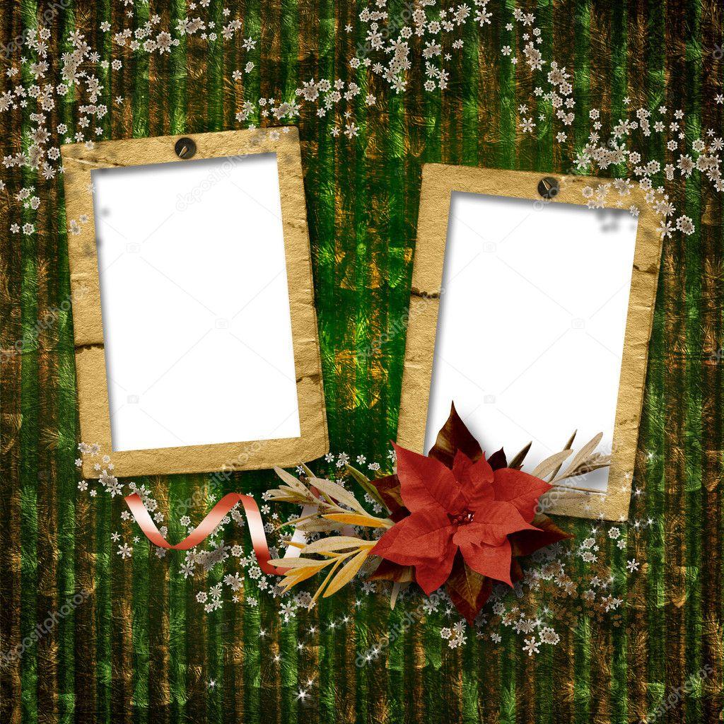 Marcos para fotos la composici n de navidad vintage - Composicion marcos pared ...