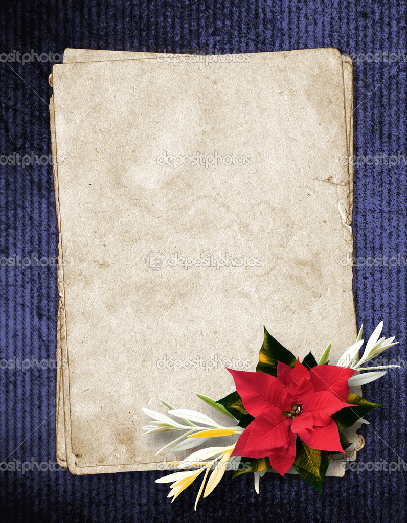framework for invitations or congratulation with christmas compo
