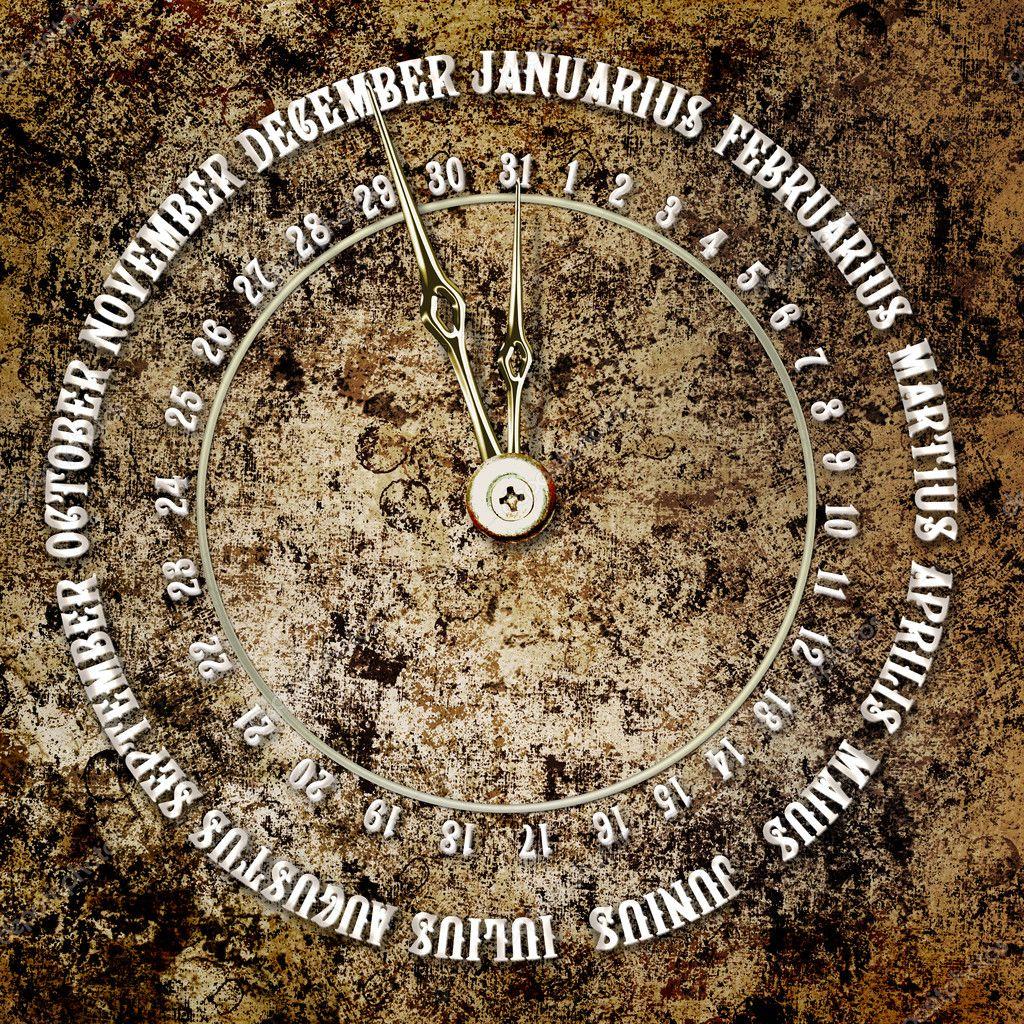 Calendario Antico.Antico Calendario Sullo Sfondo Astratto Foto Stock