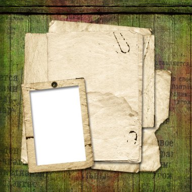 Framework for a photo or congratulation. Abstract vintage backgr