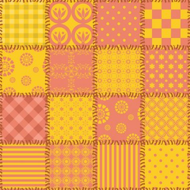 Patchwork background with different patterns