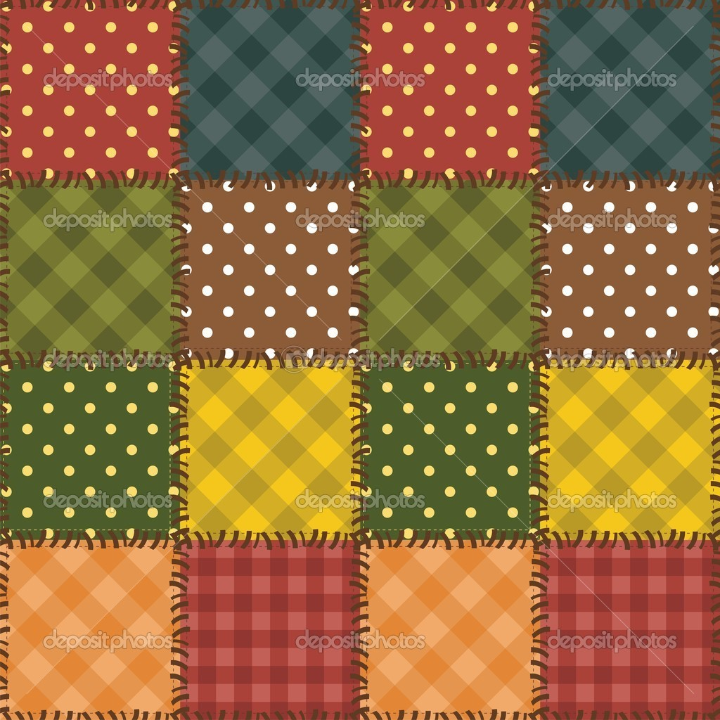 Patchwork background with different patterns Stock Vector ? kle555 #9529705