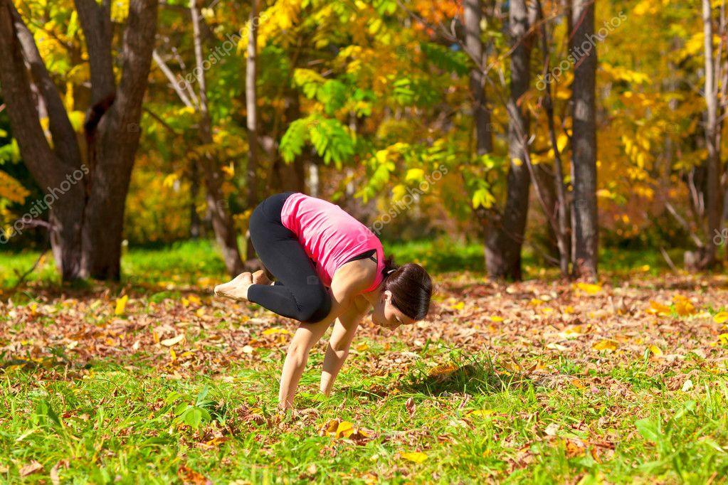 Yoga bakasana pose