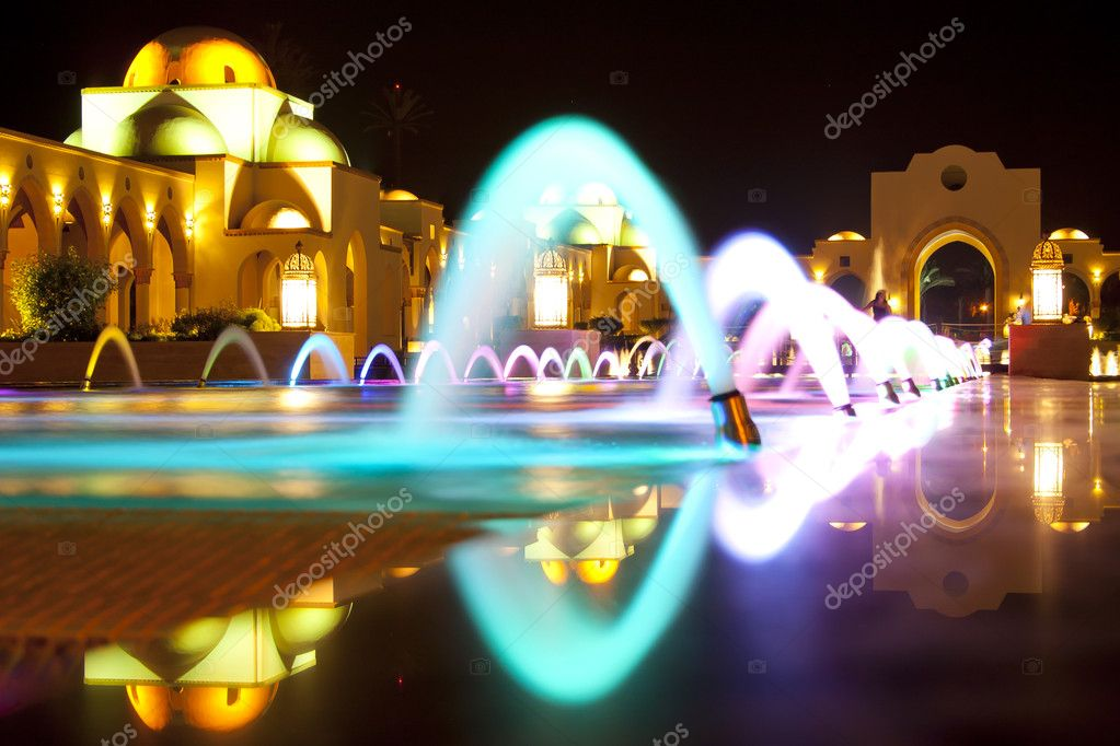 Light and music magic fountain