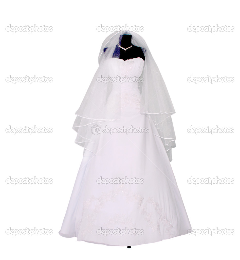 Wedding dress on mannequin stock photo ksena32 10267980 for Wedding dress in stock