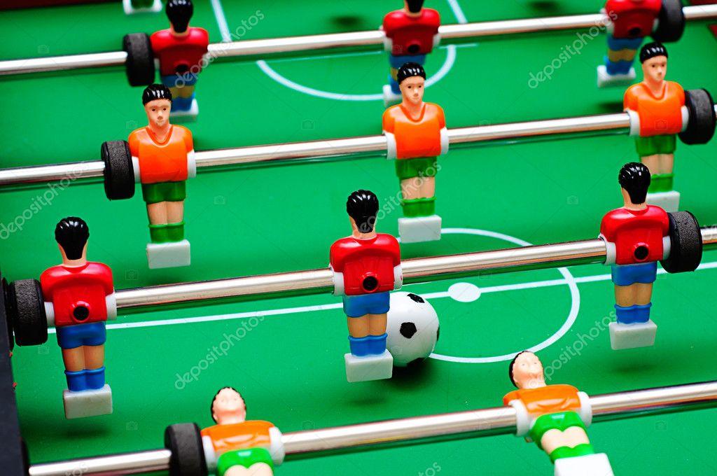 Juego de mesa de f tbol con jugadores de f tbol y campo for Juego de mesa de futbol
