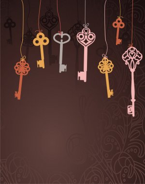 Abstract background with keys
