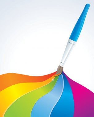 Artistic rainbow background - vector illustration