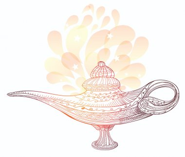 Vector magic lamp with pattern