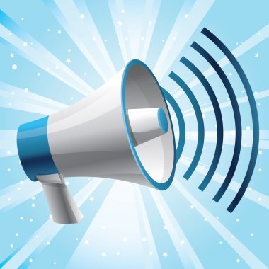 Vector icon megaphone - communication concept