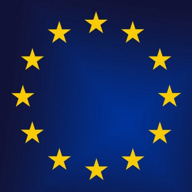 EU - European Union sign close up. Raster graphics stock vector
