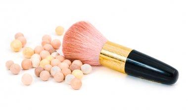 Make-up blush and cosmetic brush