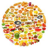 Kruh s velkým množstvím potravin