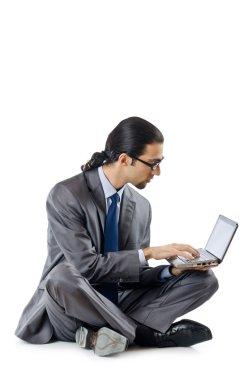 Busissman working on the laptop