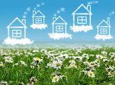 A clear sky házak