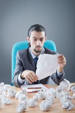 Businessman throwing paper away stock vector