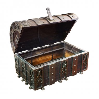 Empty treasure Chest stock vector