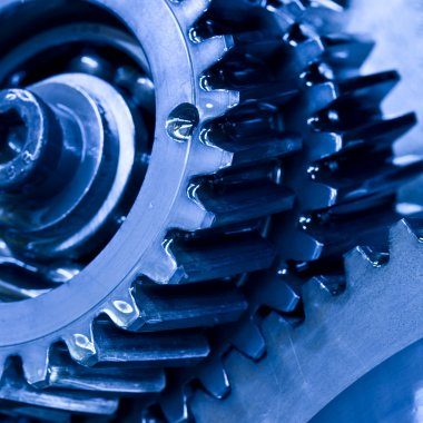 Close up view of gears from mechanism stock vector