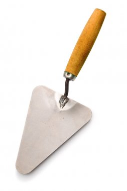Construction trowel isolated on white background stock vector