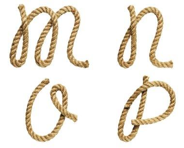 Letter M, N, O, P