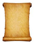 Fotografia antico manoscritto isolato su uno sfondo bianco
