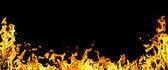 Fotografie detail žluté ohně a tmavé jako poza