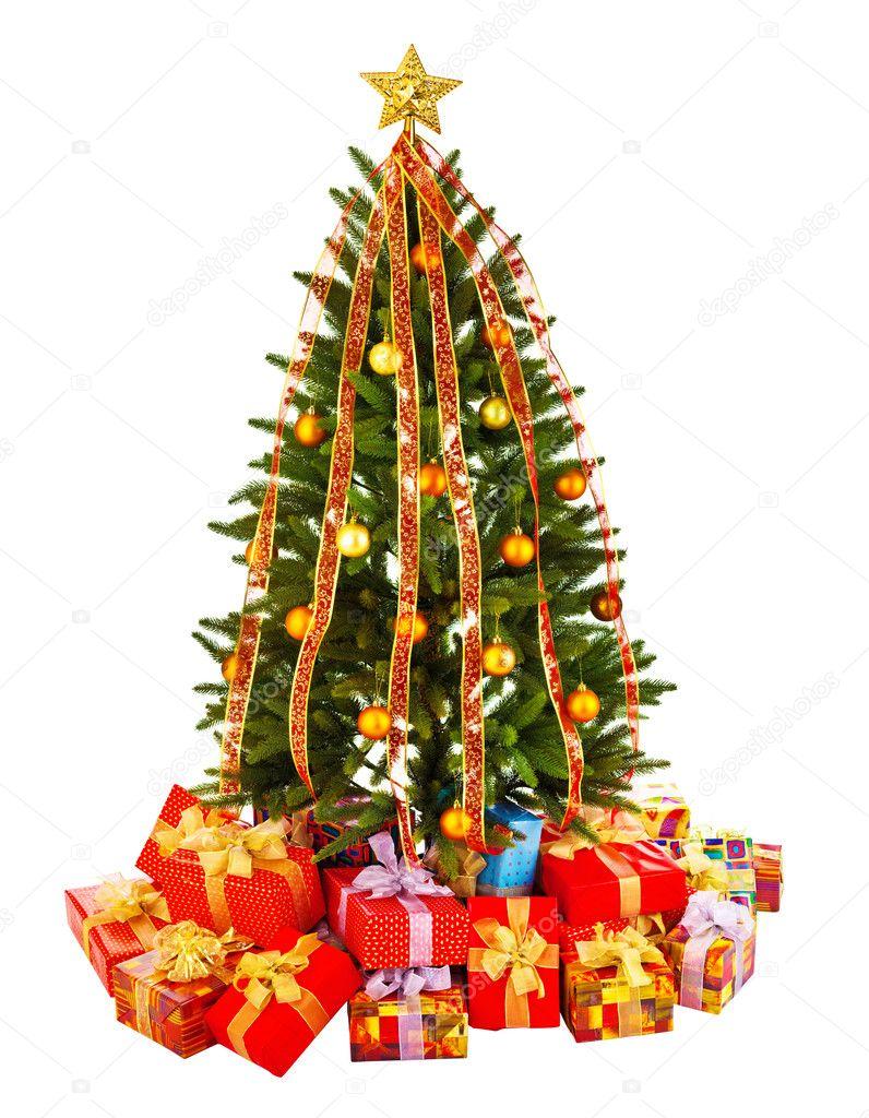 Weihnachtsbaum, Geschenke — Stockfoto © Irochka #9603024