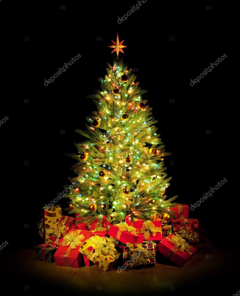 Weihnachtsbaum, Geschenke — Stockfoto © Irochka #9604785