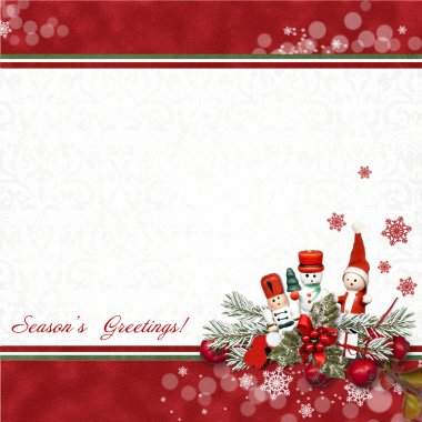 Greeting card with Nutcracker