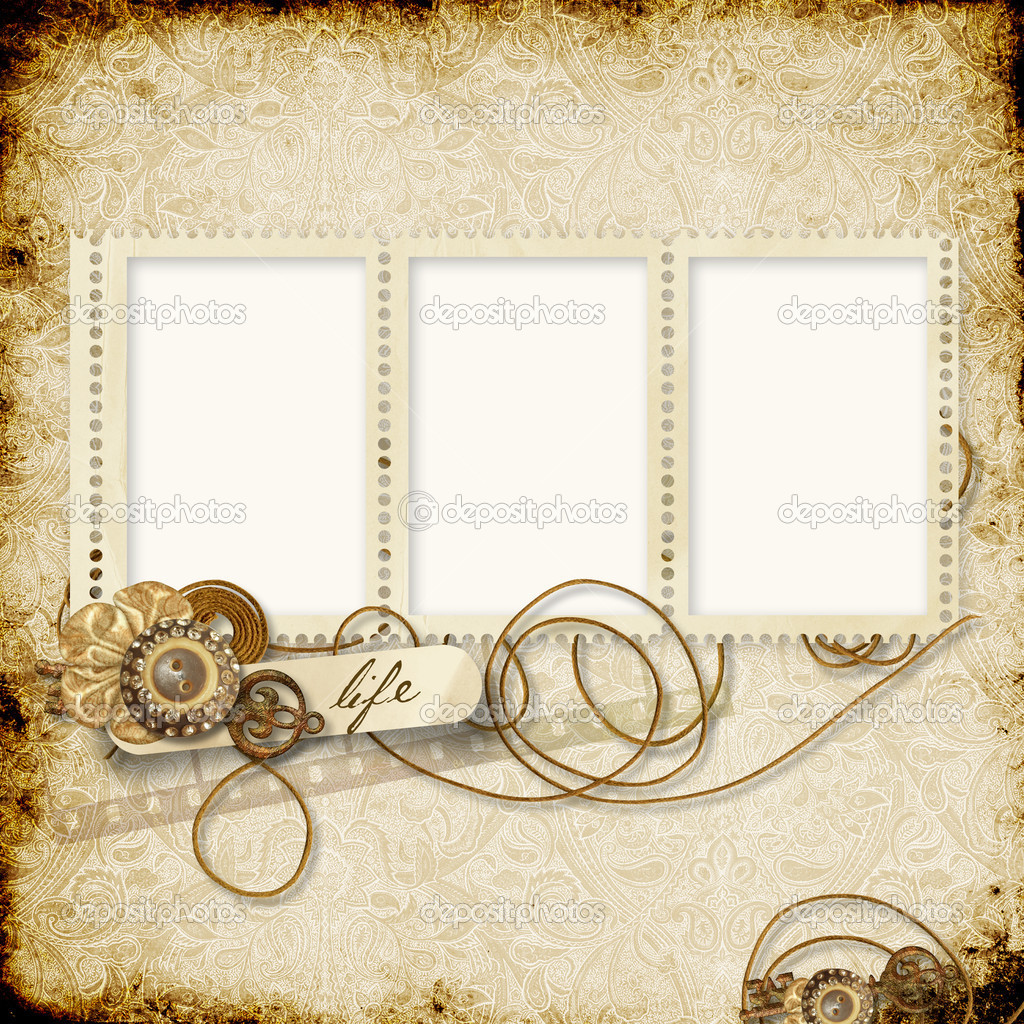 Stamp frames on the vintage background stock photo - Marcos vintage para fotos ...