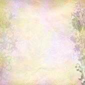 retro barevné pozadí s jarní květy