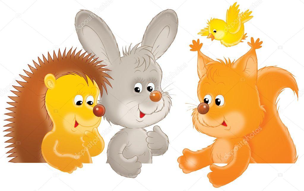 Старой, картинки для детей зайчики и белочки