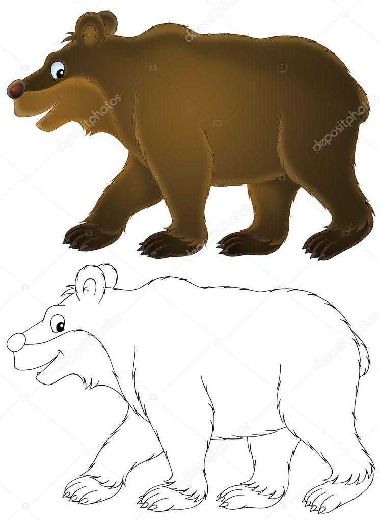 Animado: oso hibernando | oso pardo — Foto de stock © AlexBannykh ...