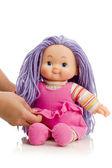 Hände mit Puppe