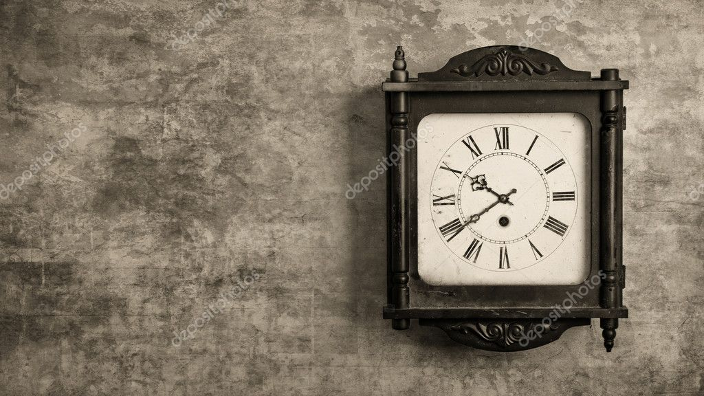 Grandfather Clock Hanging On A Wall Stock Photo Demian 10567091