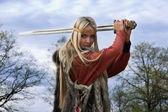 Fotografie bojovník dívka Viking