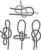 Fotografie Meer-Knoten festgelegt Schablone