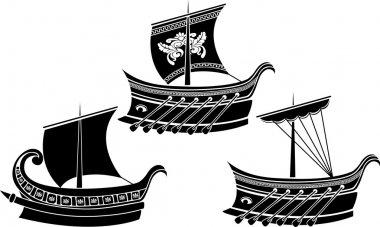 Ancient Greek ship set