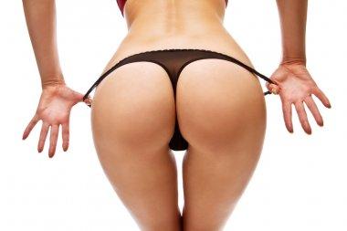 Woman take off her panties
