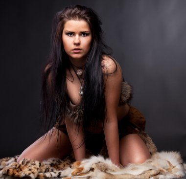Woman with fur