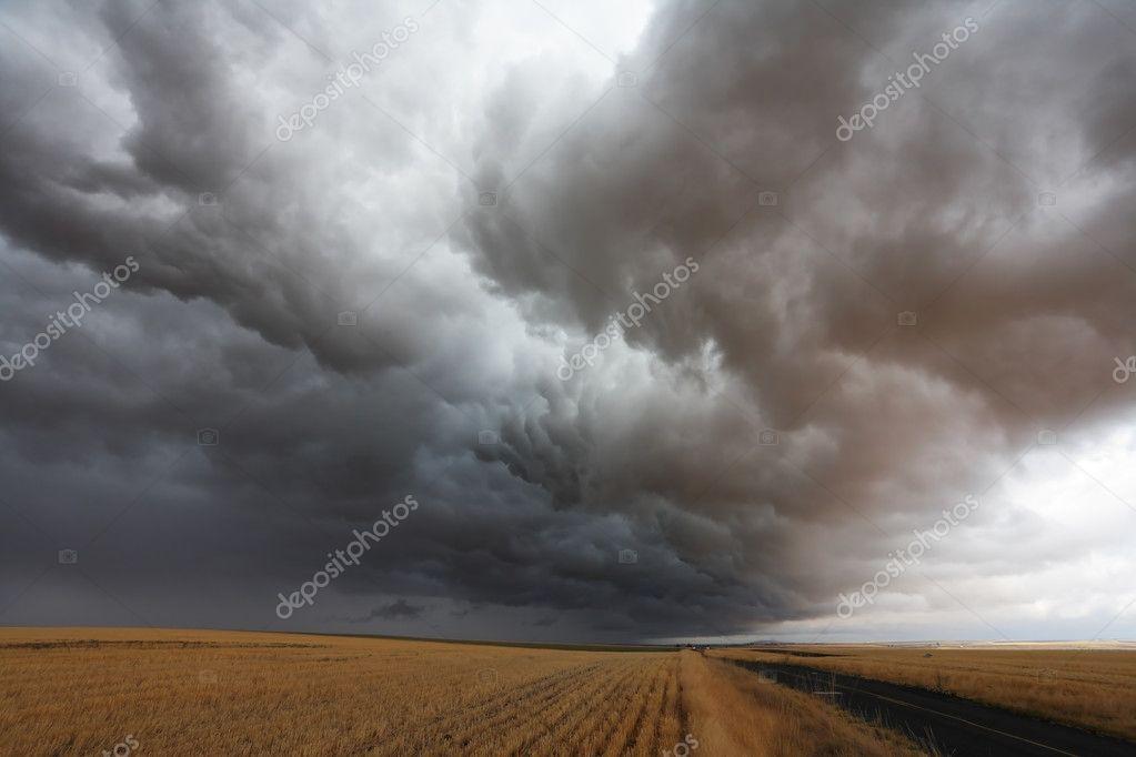 A huge storm cloud