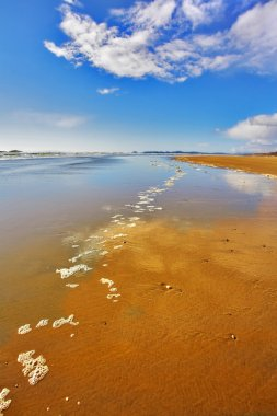 The sand during outflow
